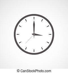 Grey clock icon