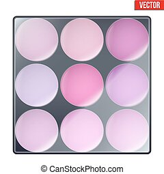 Colourful of Make Up Palette with magenta shades Eyes or...
