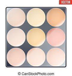 Colourful of Make Up Palette with warm shades Eyes or face...