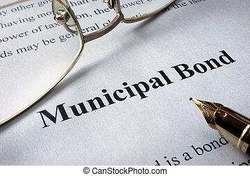 municipal bonds - Page of newspaper with words municipal...