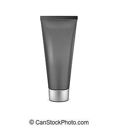 Black tube mock-up for cream. Vector EPS10 illustration.