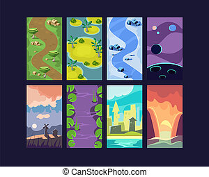 Game Background Seamless - Game background seamless set...
