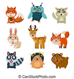 Forest Animals Illustration - Forest animals illustration...