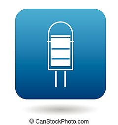 Outdoor bin icon in simple style - icon in simple style on a...