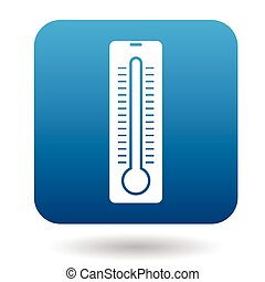 Thermometer icon in simple style
