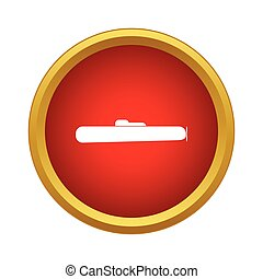 Submarine icon in simple style