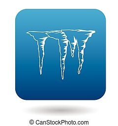 Icicles icon in simple style - icon in simple style on a...