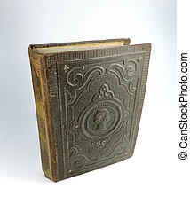 Antique book with decorative cover
