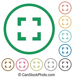 Selector tool outlined flat icons - Set of Selector tool...
