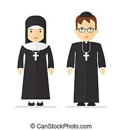 catholic priest and nun