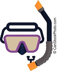 snorkel scuba mask - Snorkel scuba mask. Set of diving...