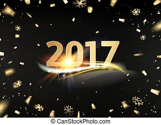 Happy new year card. - Happy new year card template over...