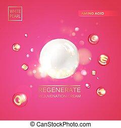 Vitamin E White Sphere. - Regenerate cream and Vitamin...