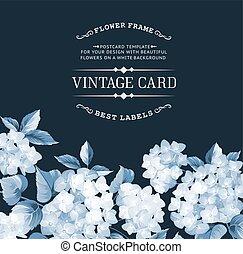 The vintage card. - Vintage card for Wedding invitation...