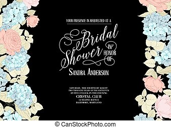 Bridal shower invitation. - Bridal shower invitation card...