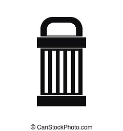 Trash icon, simple style - Trash icon in simple style....