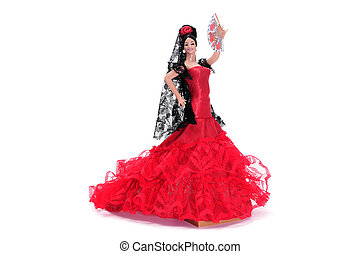 flamenca doll - a typical spanish doll dressed as a flamenca...
