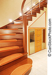 stair case - elegant stair case in luxury house vertical...