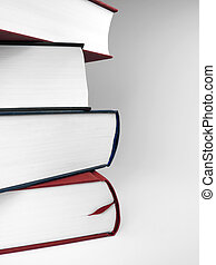 Book stack with copy space