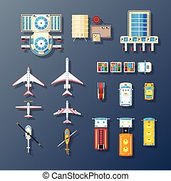 Airport Transport And Facilities Elements Collection -...