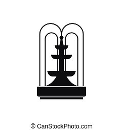 Fountain icon, simple style - Fountain icon in simple style...