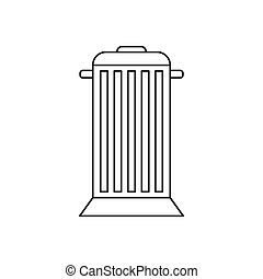 Street trash icon, outline style - Street trash icon in...