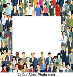 Personen Vorstellung.eps - Crowd, group