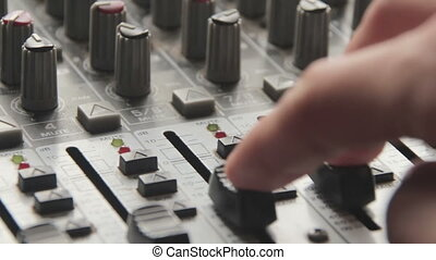 Working with Sound Mixing Console