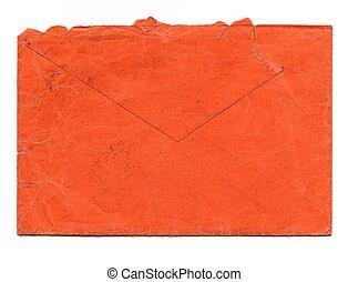 Red letter envelope - Vintage red letter envelope for mail...