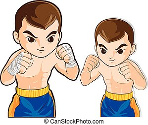 boxing guard action - vector of boxing msn guard for...