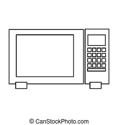 microwave oven icon - flat design microwave oven icon vector...