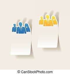 realistic design element: business people