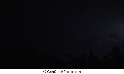 Lightning Streaks - Lightning storm captured in real time...