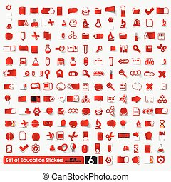 Set of education stickers