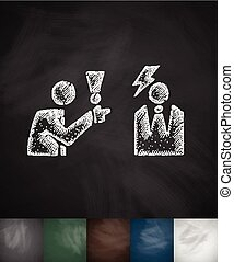 dispute icon. Hand drawn vector illustration. Chalkboard...