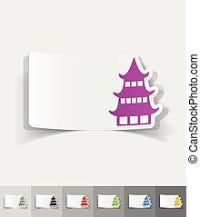 realistic design element japanese house - japanese house...
