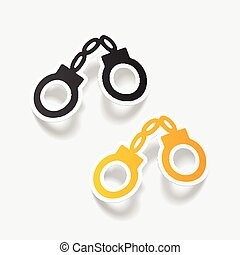 realistic design element: handcuffs