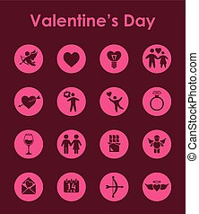 Set of Valentines Day simple icons