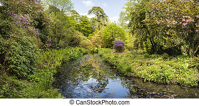 Landscape image of beautiful landscaped Gardens in Dorset England