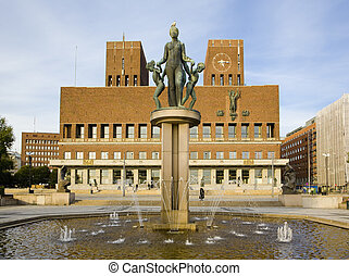 Oslo  - City Hall (Radhuset), Oslo, Norway