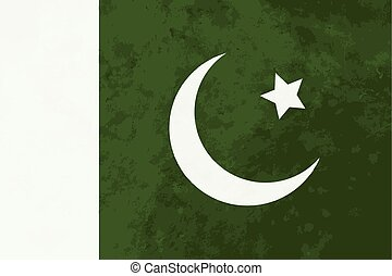 True proportions Pakistan flag with texture - True...