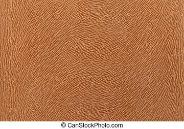 Matte brown fabric imitating animal fur Leather background...