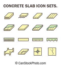 Concrete slab icon - Concrete slab vector icon sets design.