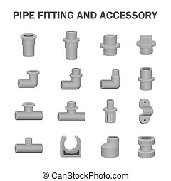 Pipe fitting vector - Vector of pipe fitting and accessory