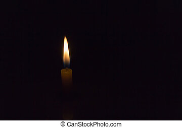 single candle lighten in the dark - Simply single candle...