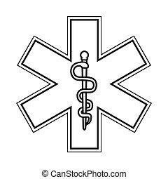 rod of asclepius icon - flat design rod of asclepius icon...