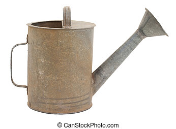 Old watering can - Old metal watering can, a classic design...