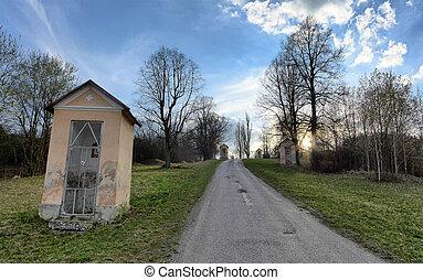 Calvary in Ruzomberok, Slovakia - Calvary in town...