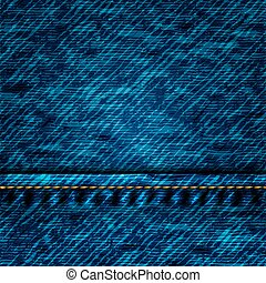 Blue Jeans Texture - Vector - Dark blue Jeans Texture with...