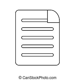 lined paper document icon - flat design lined paper document...